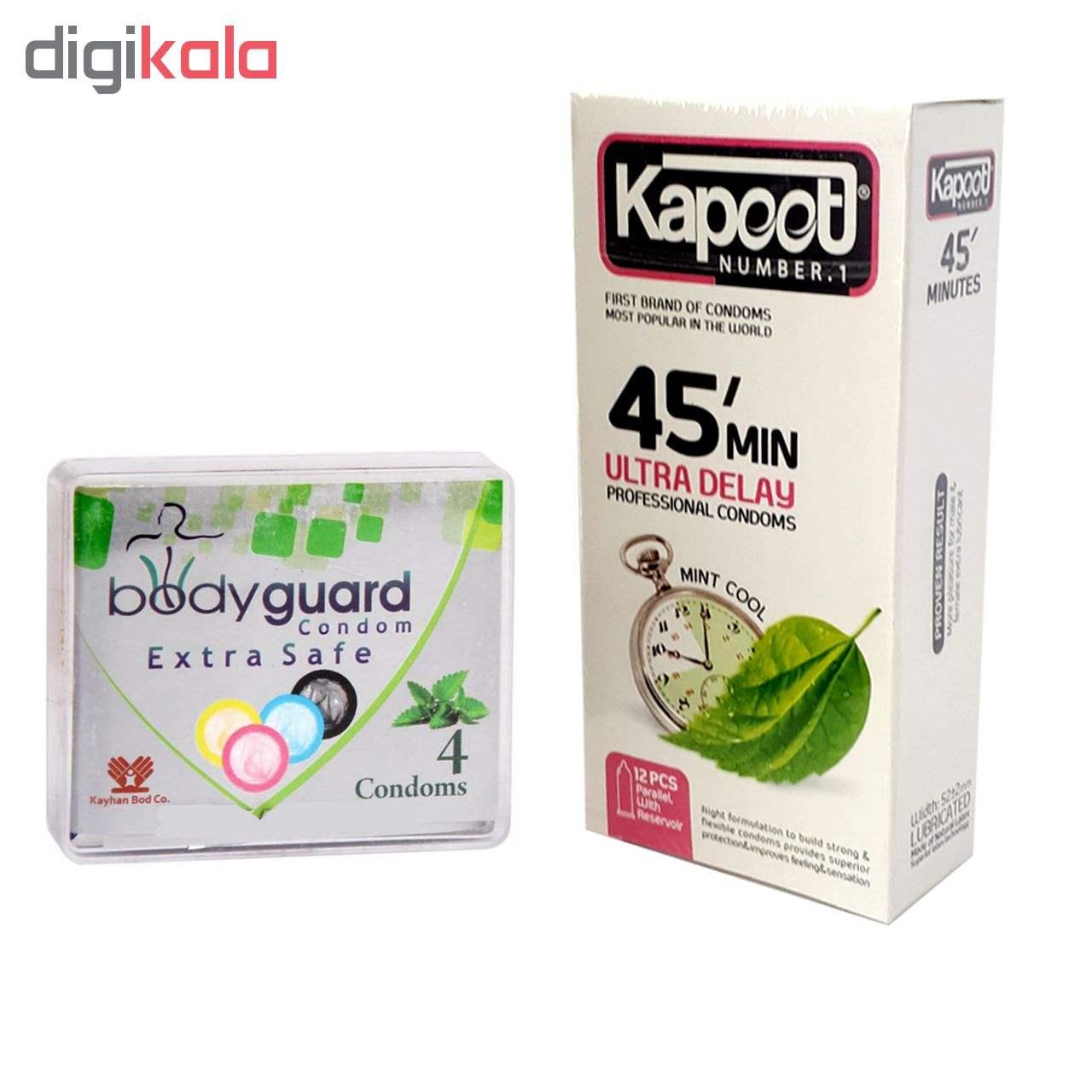کاندوم کاپوت مدل 45Minutes بسته 12 عددی به همراه کاندوم بادیگارد مدل Extra Safe بسته 4 عددی main 1 1