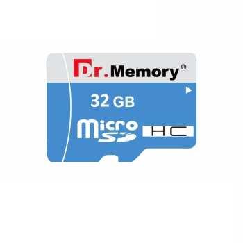 کارت حافظه microSDHC دکتر مموری مدل DR6023 آبی کلاس 10استاندارد HC  ظرفیت 32 گیگابایت همراه با اداپتور SD