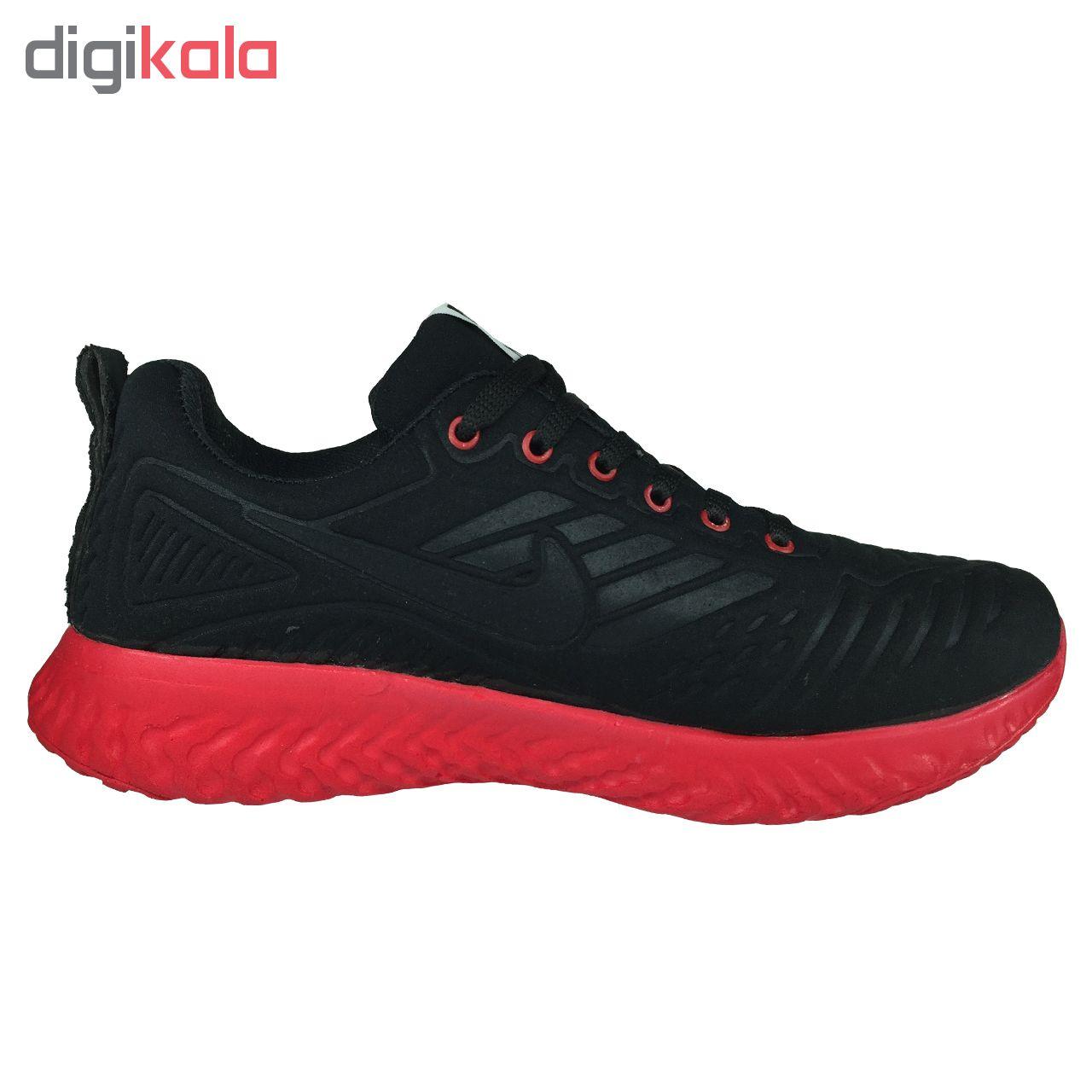 کفش مخصوص پیاده روی مردانه مدل B165 رنگ مشکی قرمز