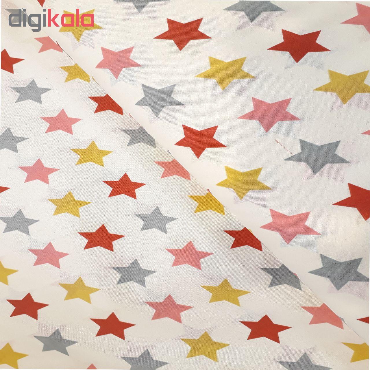 خرید                      پارچه ملحفه طرح ستاره کد 4