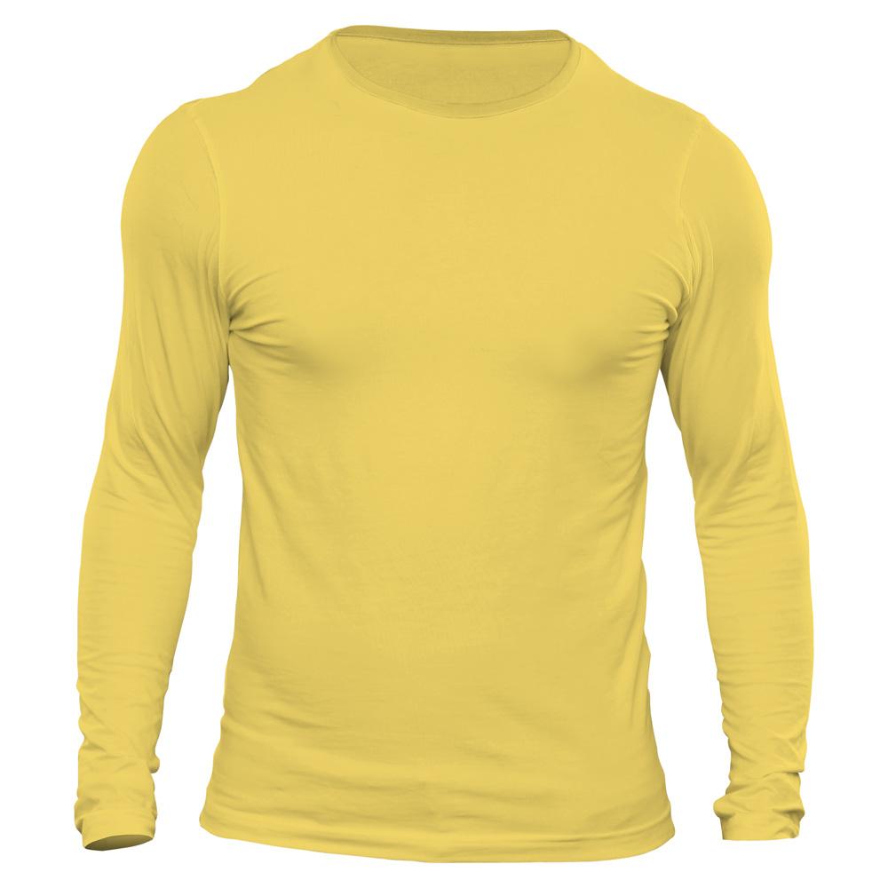 تیشرت آستین بلند مردانه دی سی کد DC-3GYL رنگ زرد لیمویی