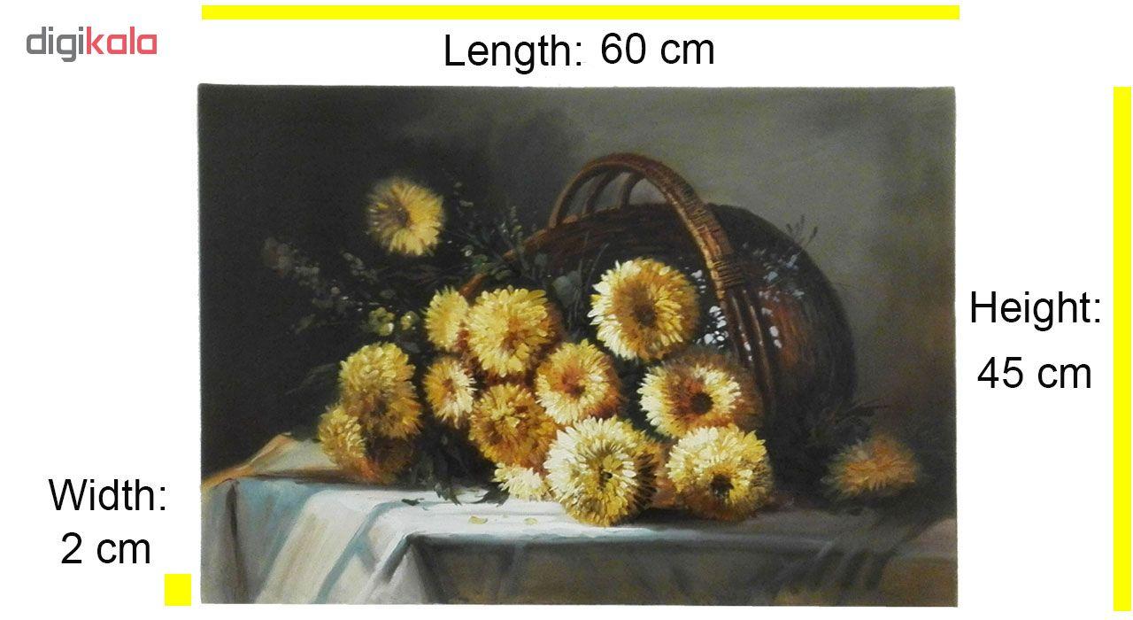 خرید                      تابلو نقاشی رنگ روغن طرح گل مدل 3005