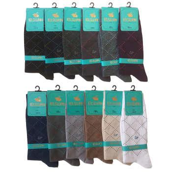 جوراب مردانه ال سون طرح ونیز کد PH45 مجموعه 12 عددی