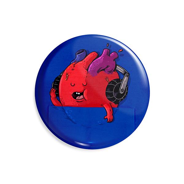 پیکسل ماسا دیزاین طرح قلب موزیک جیب هدفون کد AS304
