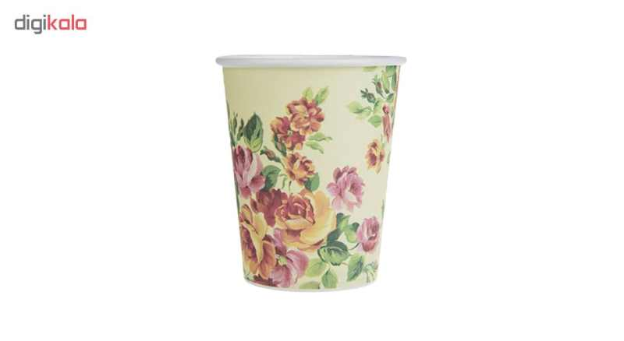 لیوان یکبار مصرف کاغذی الین پلاست مدل KGH6-100 بسته 100 عددی