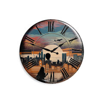پیکسل ماسا دیزاین طرح ساعت شهر دختر بادکنک کد AS528