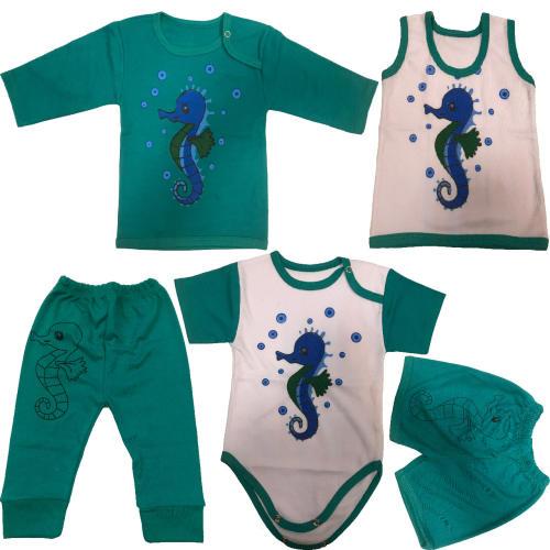 ست 5 تکه لباس نوزادی مدل sea