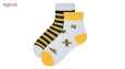 جوراب دخترانه طرح زنبور مدل bee34 thumb 1