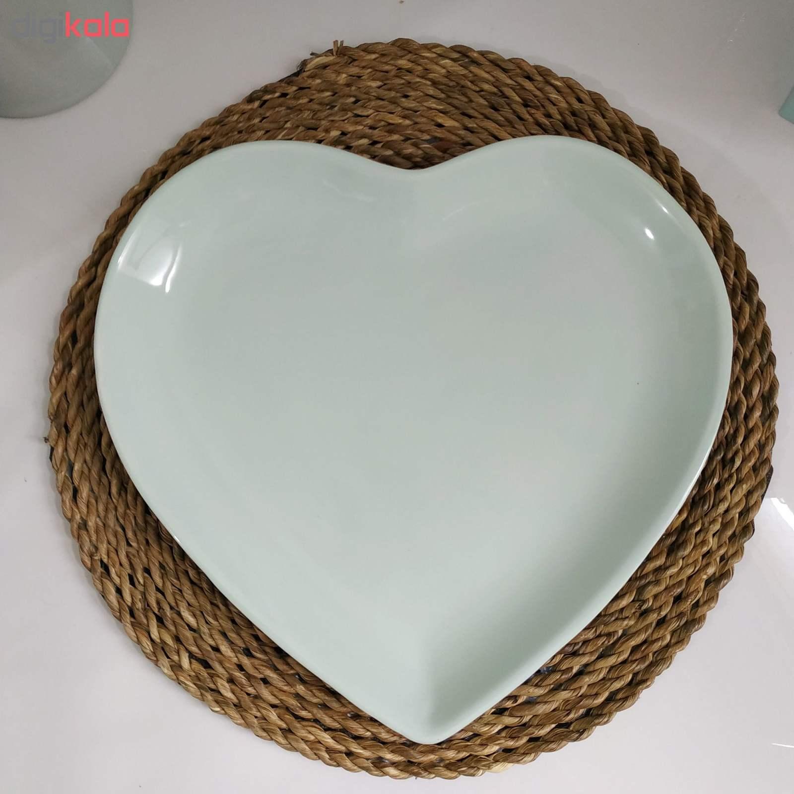 بشقاب غذاخوری طرح قلب کد093 بسته 2 عددی thumb 2