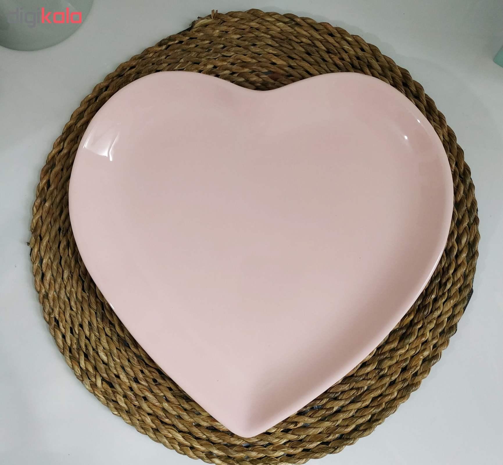 بشقاب غذاخوری طرح قلب کد093 بسته 2 عددی main 1 3
