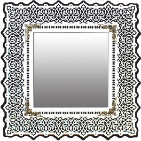 آینه دست نگار طرح شمسه کد 01-31