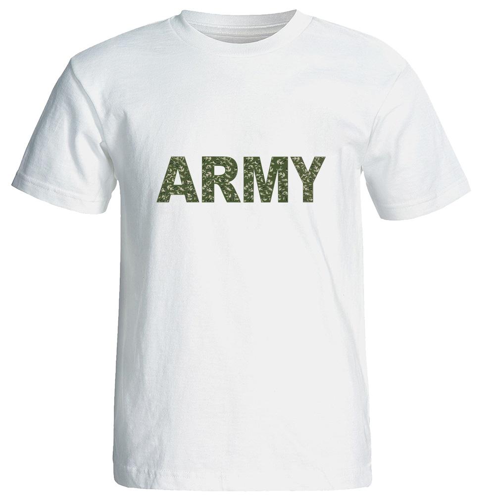 تی شرت آستین کوتاه مردانه طرح ارتشی کد 20597