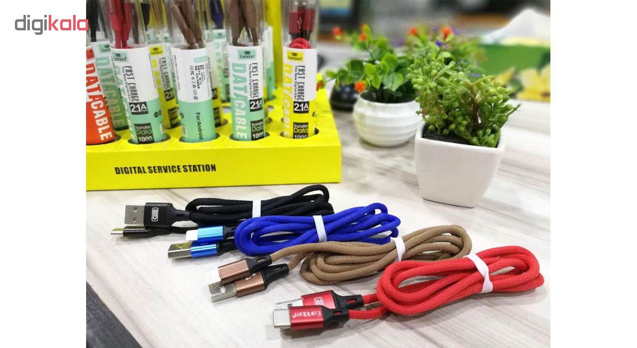 کابل تبدیل USB به USB-C ارلدام مدل EC-015C طول 1 متر