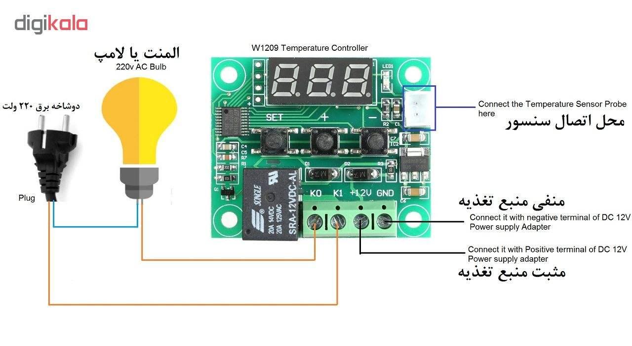 ترموستات کنترلر دما دیجیتال مدل 1209 thumb 3