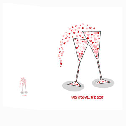 کارت پستال طرح جام عشق  کد 01CUPS