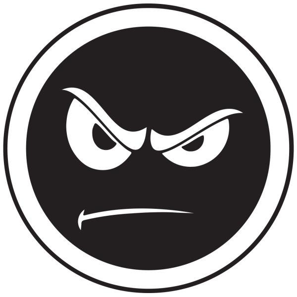 برچسب بدنه خودرو طرح  عصبانی کد 125