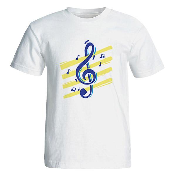 تی شرت آستین کوتاه مردانه طرح موسیقی  کد 4613