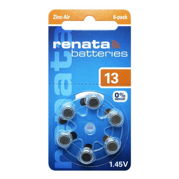 باتری سمعک رناتا کد 13 بسته 6 عددی