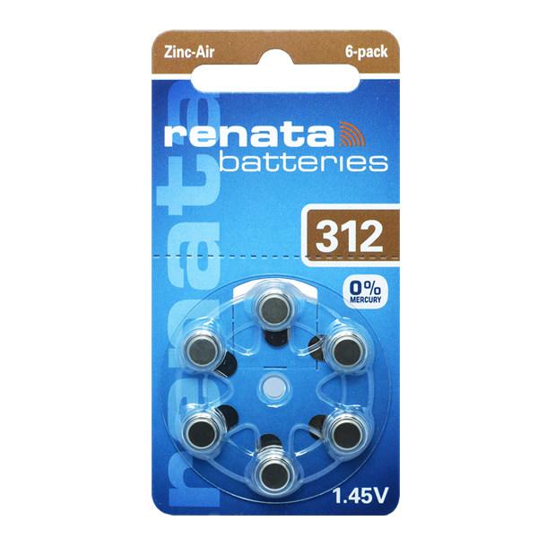 باتری سمعک  رناتا کد 312 بسته 6 عددی