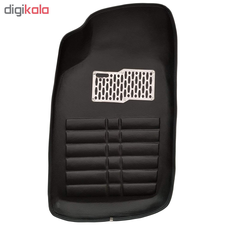 کفپوش سه بعدی چرمی ( پشت نمدی ) خودرو مناسب برای پژو 206 thumb 1