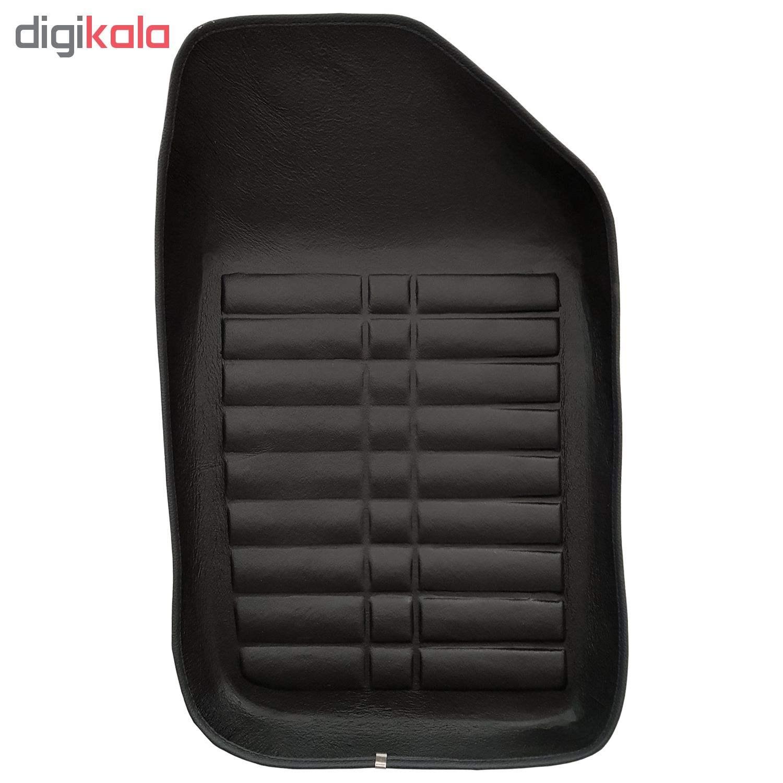 کفپوش سه بعدی چرمی ( پشت نمدی ) خودرو مناسب برای پژو 206 main 1 2