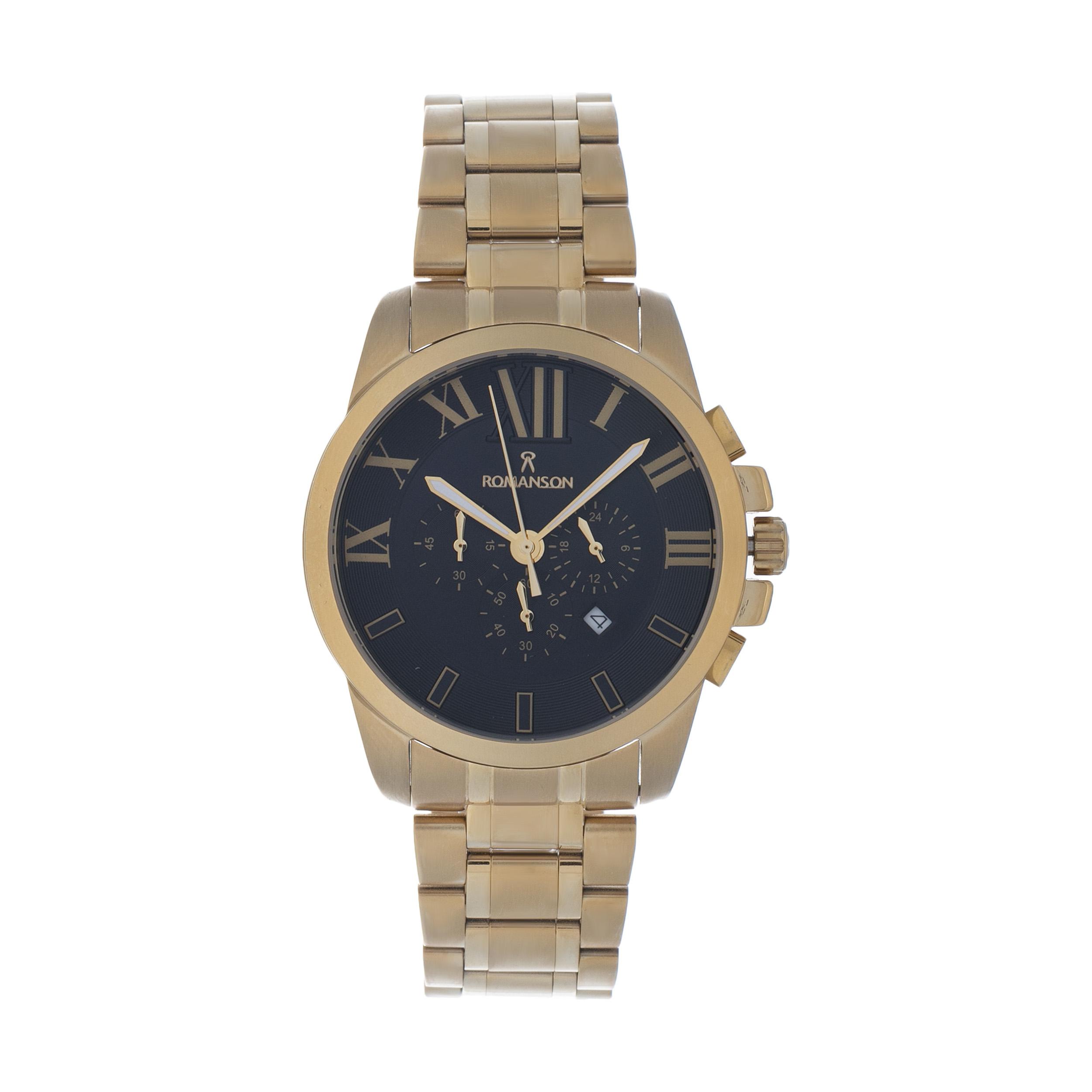 ساعت مچی عقربه ای مردانه مدل RM 6807 SG -TM به همراه دستمال مخصوص نانو برند کلیر واچ