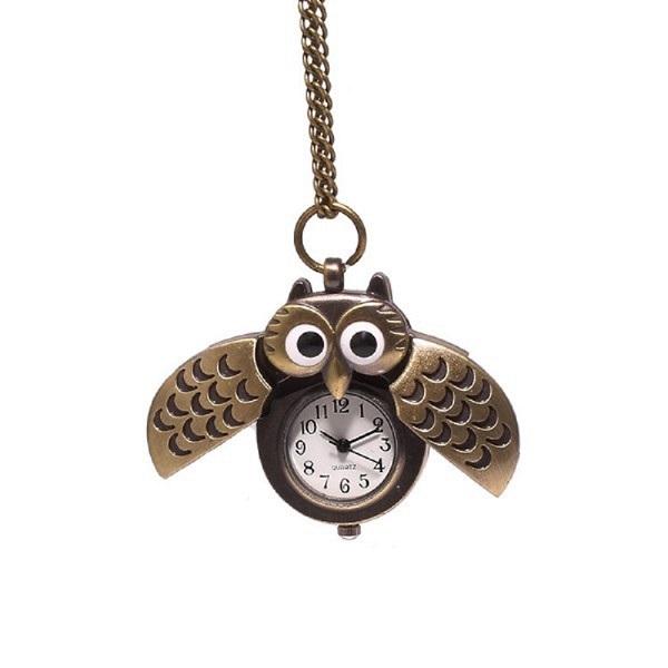 ساعت جیبی زنانه طرح جغد کد 001