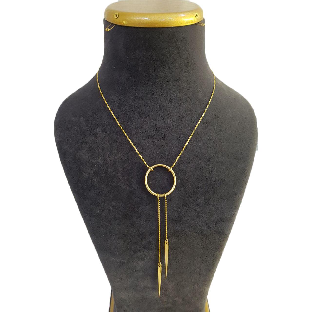 قیمت گردنبند طلا 18 عیار آزوریت کد 263
