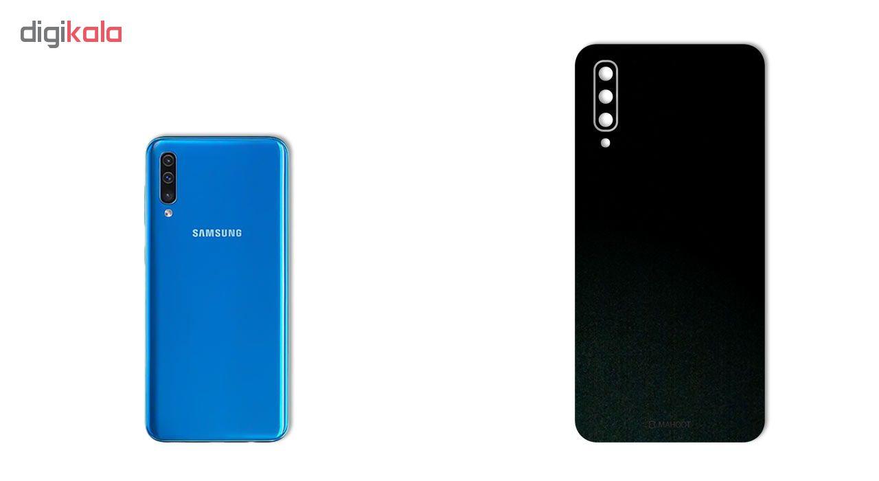 برچسب پوششی ماهوت طرح Black-Suede مناسب برای گوشی موبایل سامسونگ Galaxy A50