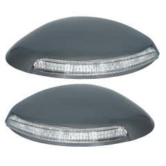 فلاپ آینه چراغ دار مدادی خودرو مدل B-R مناسب برای پژو 206 بسته 2 عددی