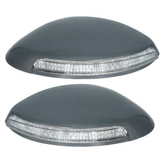 فلاپ آینه چراغ دار مدادی خودرو مدل B-R مناسب برای پژو 206 بسته 2 عددی thumb