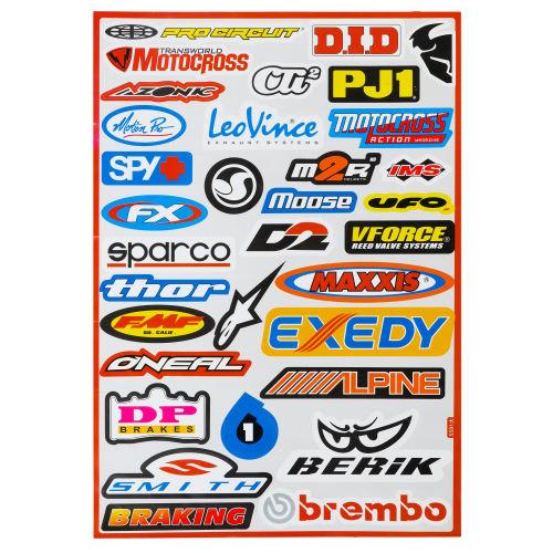 برچسب بدنه موتور سیکلت طرح brembo کد 026