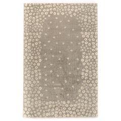 فرش ماشینی ساوین طرح ۴۰۰۷ زمینه نقره ای روشن thumb