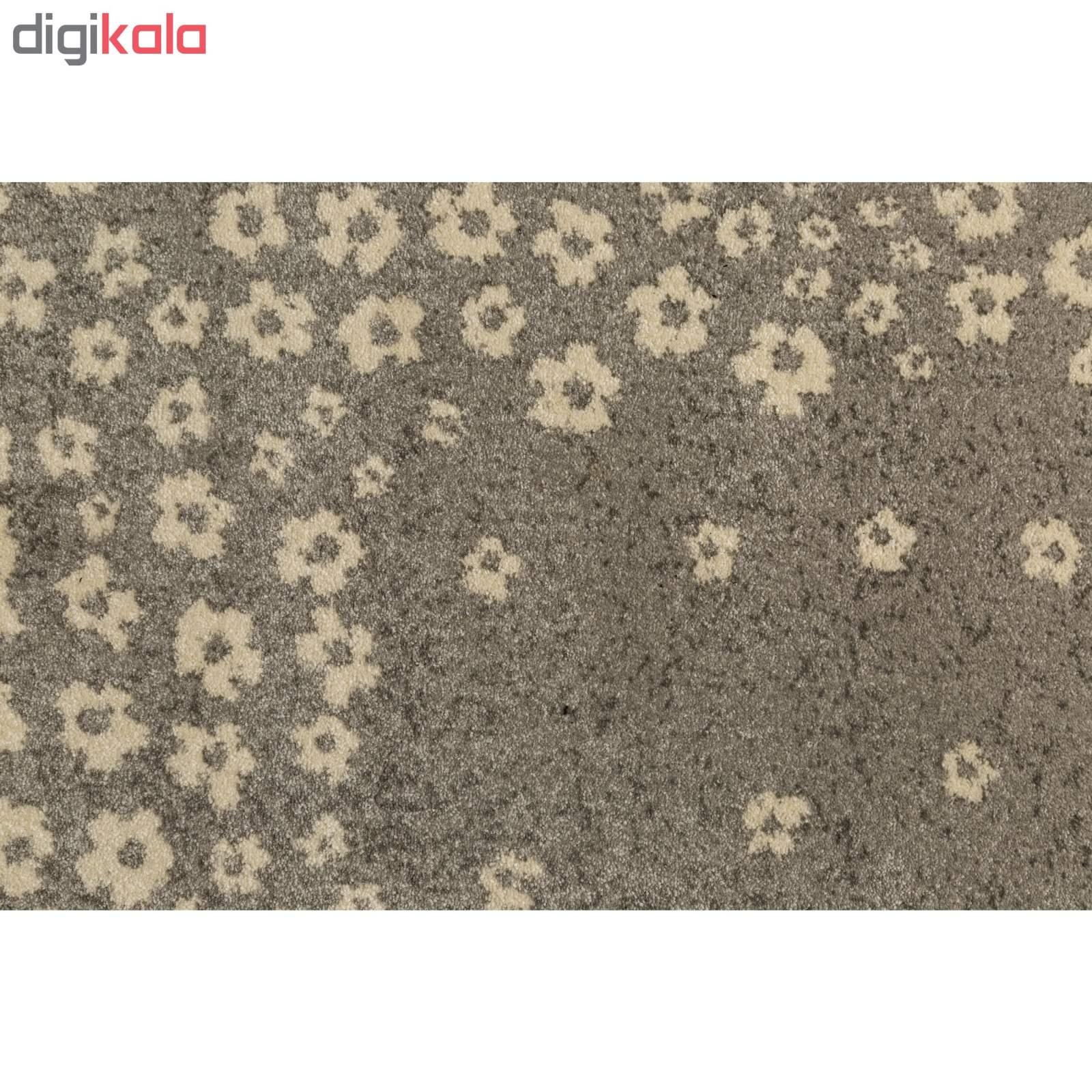 فرش ماشینی ساوین طرح ۴۰۰۷ زمینه نقره ای روشن thumb 2