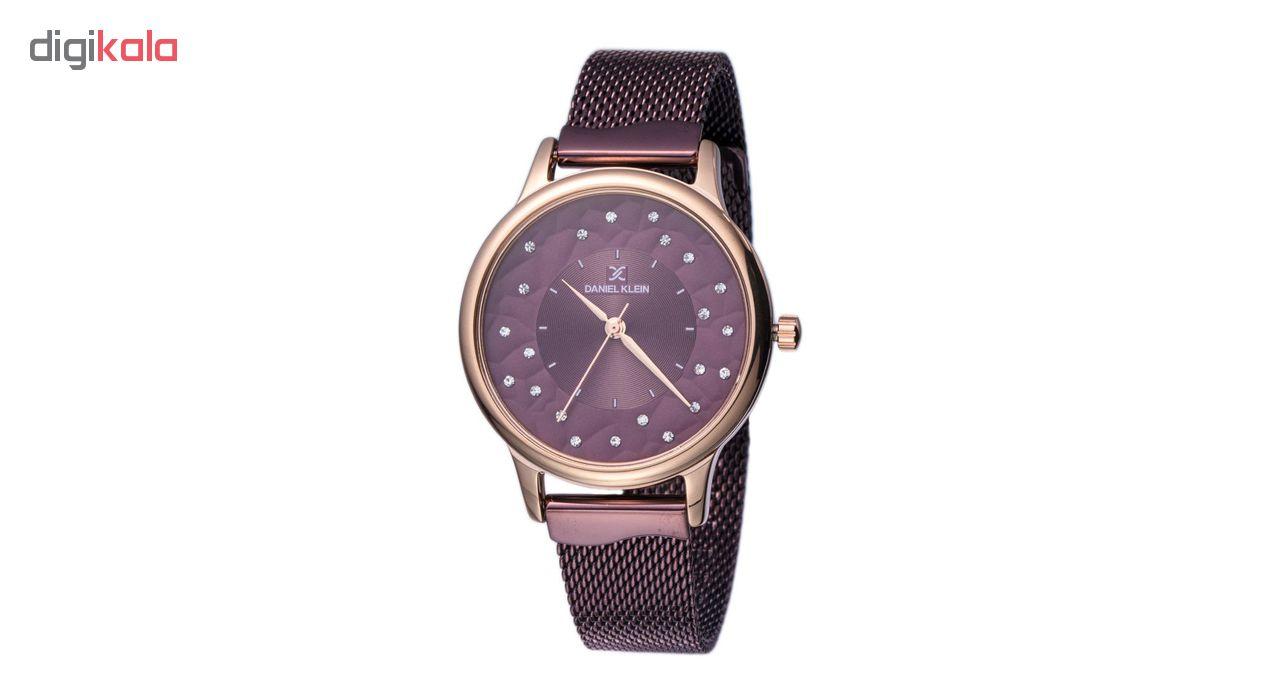 ساعت مچی عقربه ای زنانه دنیل کلین مدل DK11802-7 به همراه دستمال مخصوص برند کلین واچ