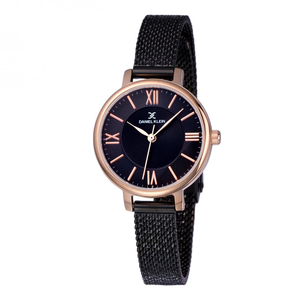ساعت مچی عقربه ای زنانه دنیل کلین مدل DK11897-6 به همراه دستمال مخصوص برند کلین واچ