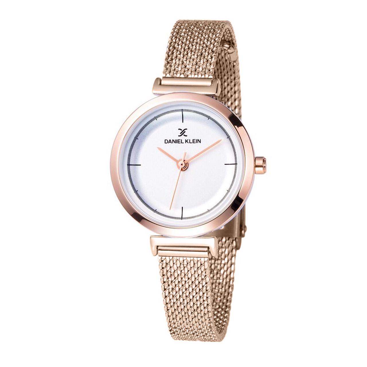 ساعت مچی عقربه ای زنانه دنیل کلین مدل dk11899-3 به همراه دستمال مخصوص برند کلین واچ