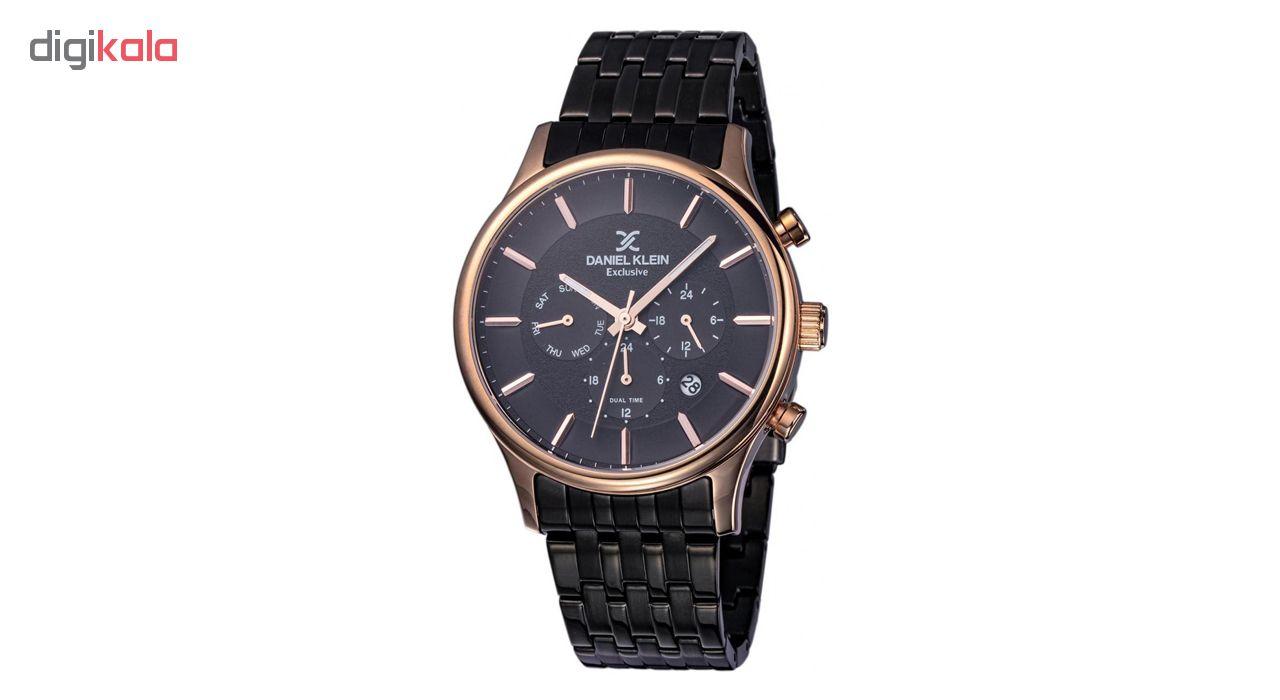 خرید ساعت مچی عقربه ای مردانه دنیل کلین مدل DK11911-5 به همراه دستمال مخصوص برند کلین واچ