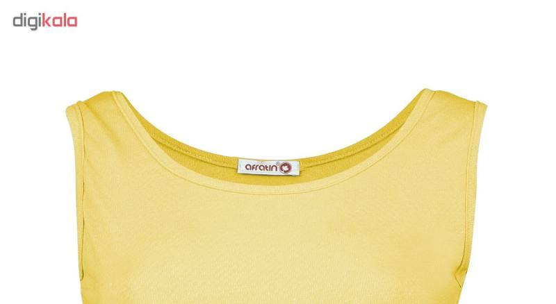 پیراهن زنانه افراتین کد 9641-3 رنگ خردلی