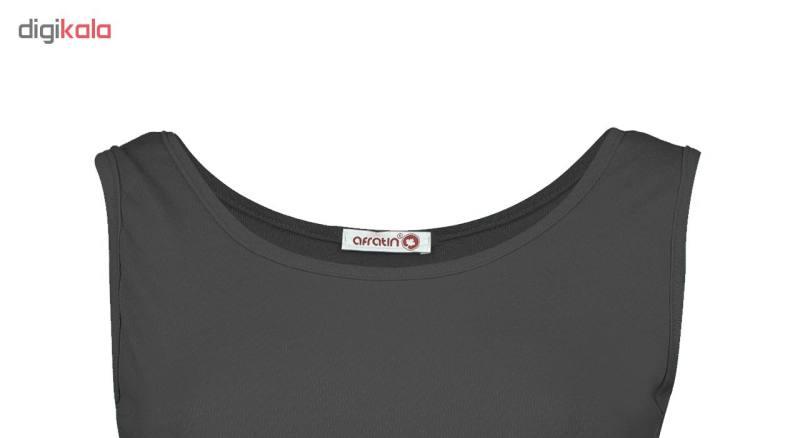 پیراهن زنانه افراتین کد 9641-3 رنگ خاکستری