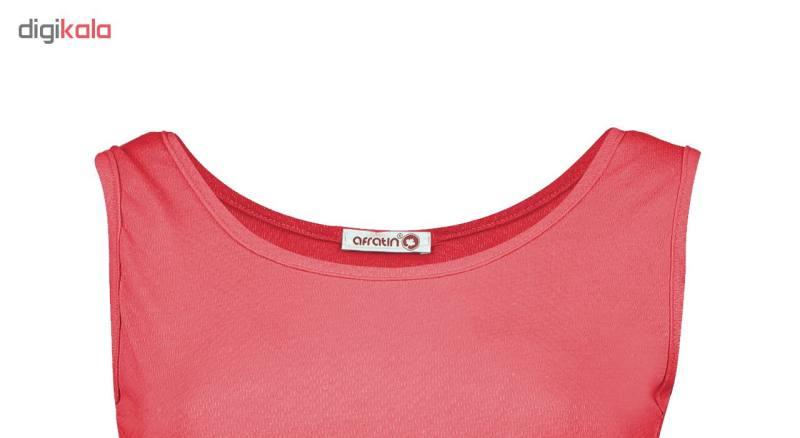 پیراهن زنانه افراتین کد 9641-3 رنگ قرمز