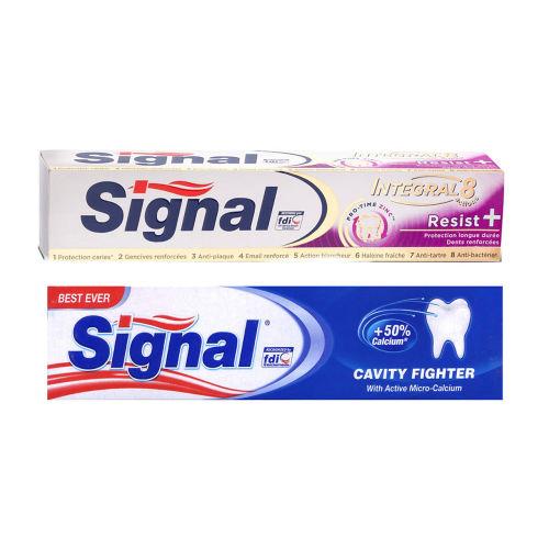 خمیر دندان سیگنال مدل Resist به همراه خمیر دندان سیگنال مدل Cavity Fighte بسته دو عددی