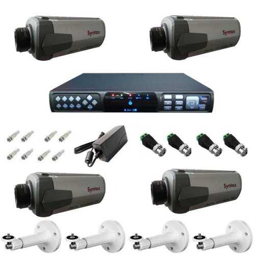 پک کامل سیستم امنیتی نظارتی حفاظتی دوربین مداربسته مدل SX4001A