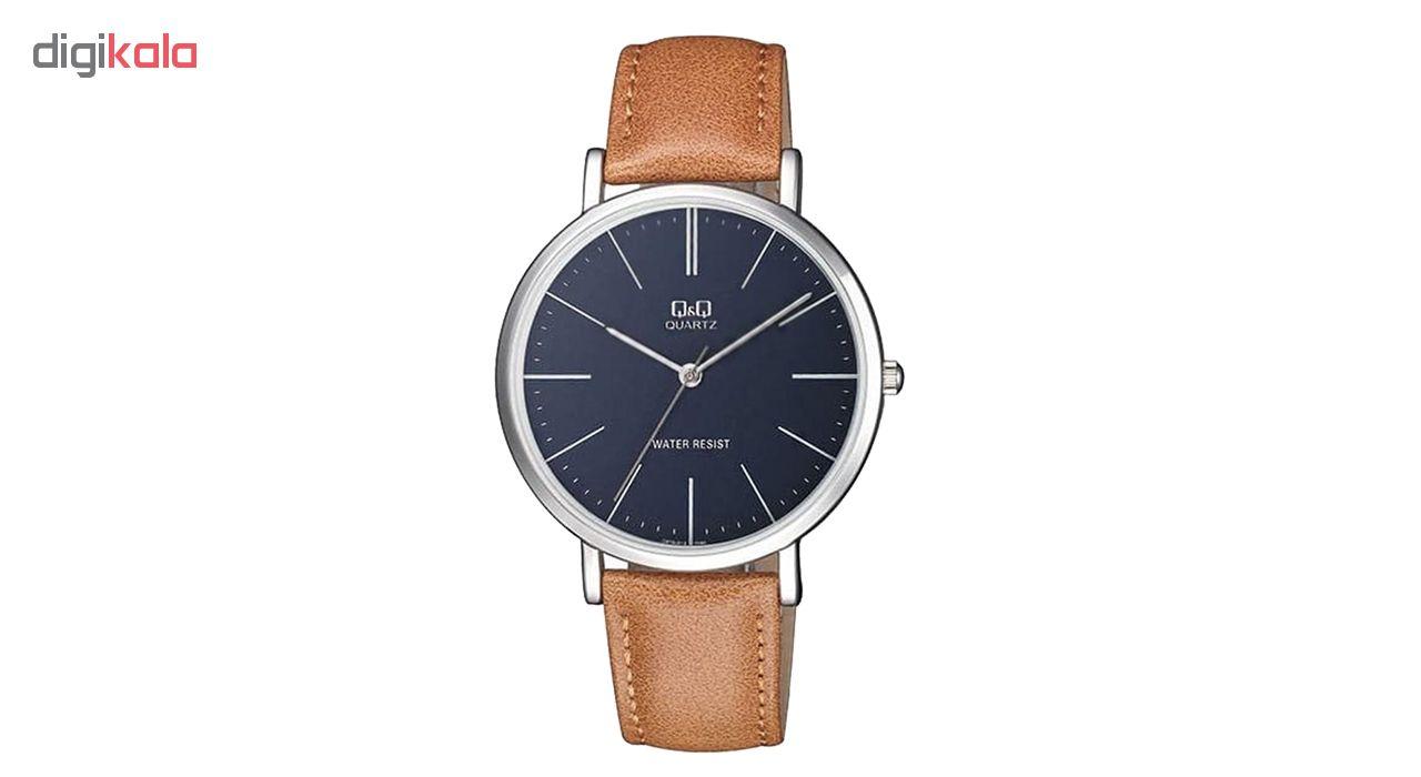 ساعت مچی عقربه ای مردانه کیو اند کیو مدل q978j312y به همراه دستمال مخصوص برند کلین واچ