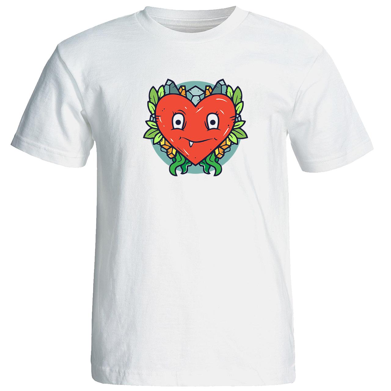 خرید تی شرت زنانه طرح قلب کد 17127