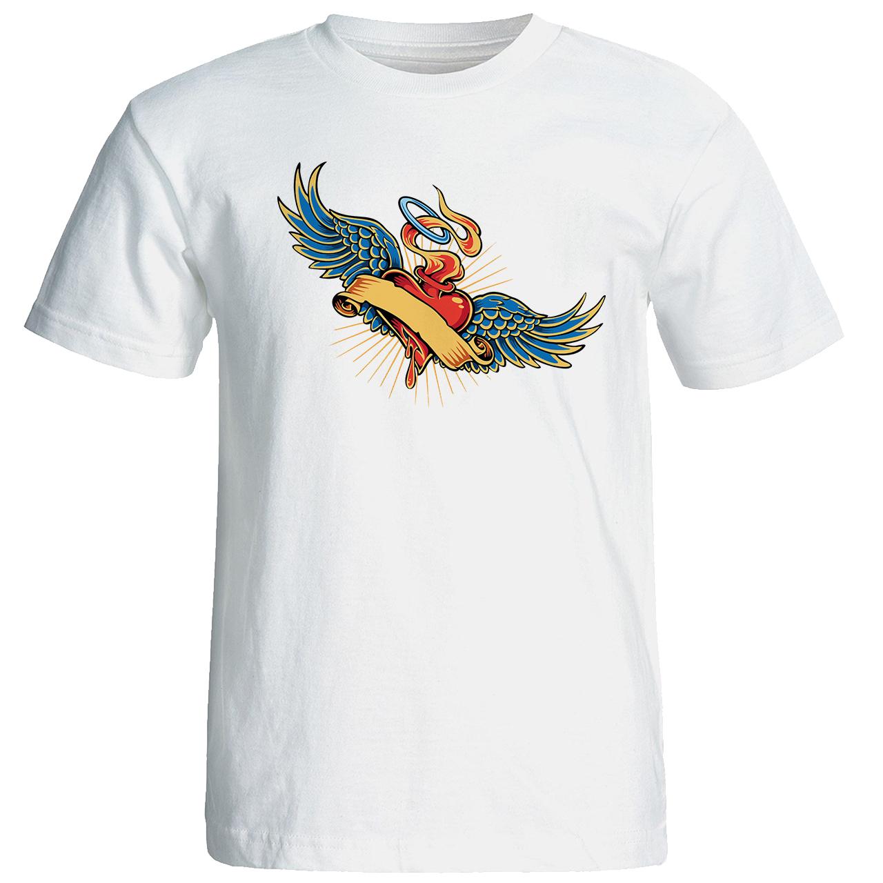 خرید تی شرت زنانه طرح قلب   کد 17142