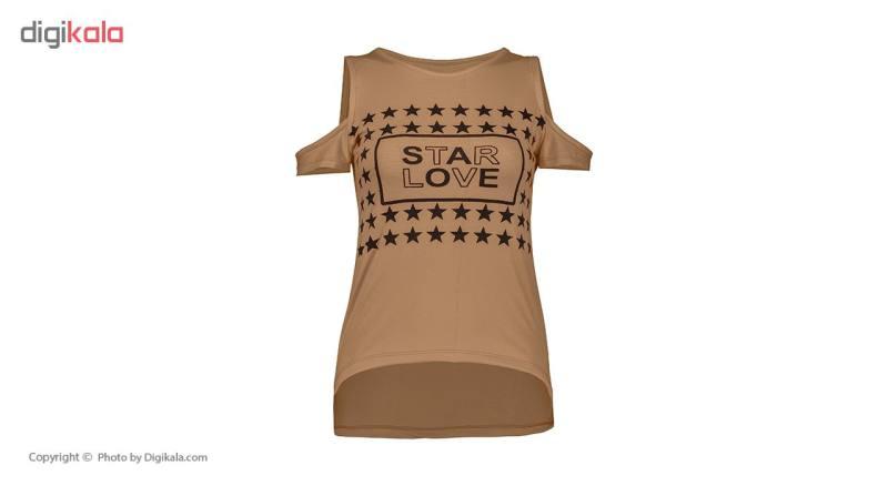 ست تی شرت و شلوار ورزشی زنانه مدل Star-ِD-BR
