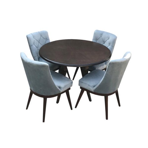 میز و صندلی ناهار خوری اسپرسان چوب مدل sm09