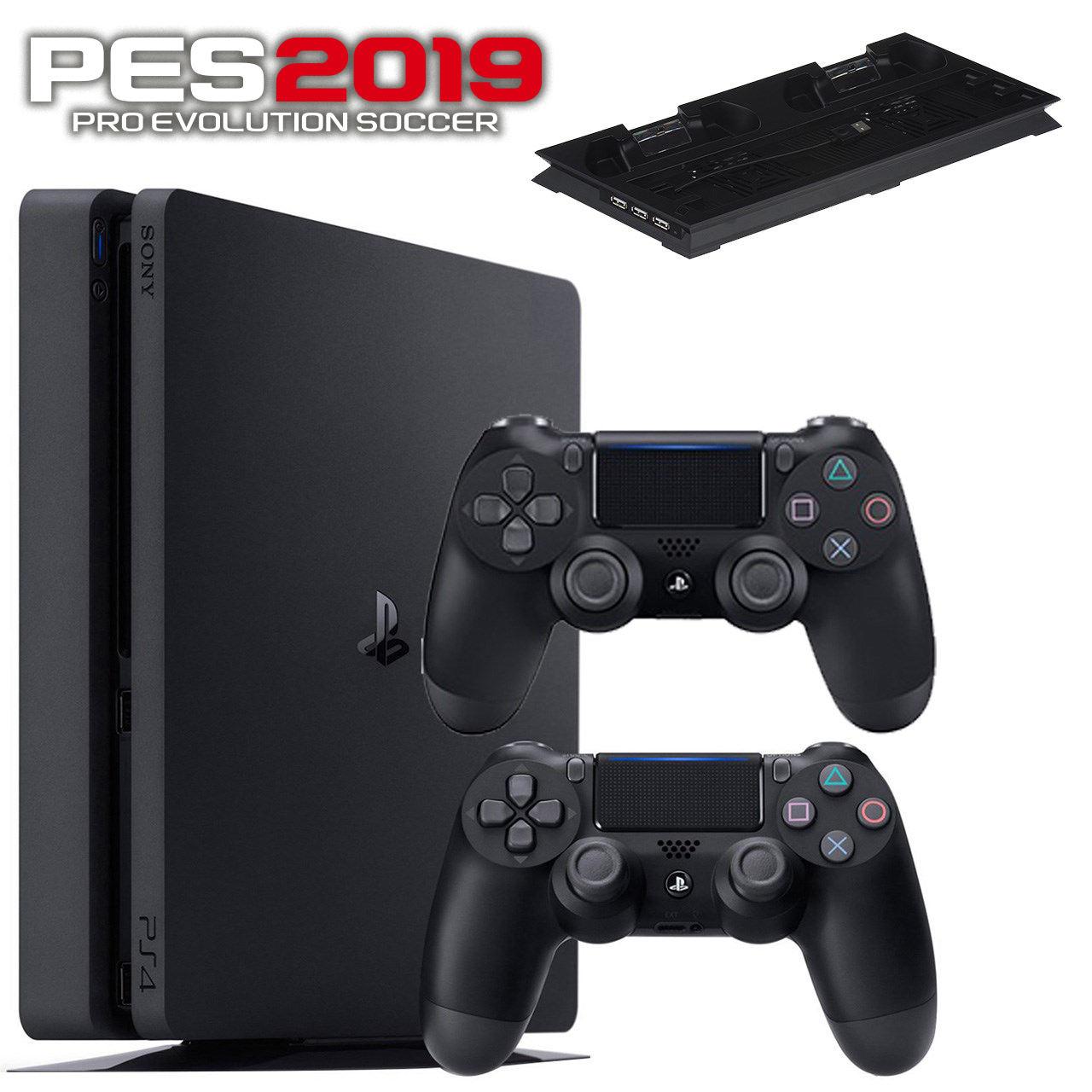 مجموعه کنسول بازی سونی مدل Playstation 4 Slim 2018 کد Region 2 CUH-2216A ظرفیت 500 گیگابایت
