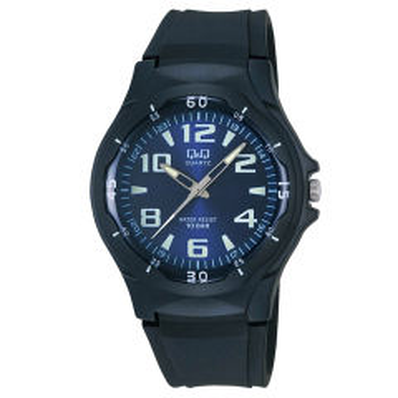 ساعت مچی عقربه ای مردانه کیو اند کیو مدل vp58j003y به همراه دستمال مخصوص برند کلین واچ 55